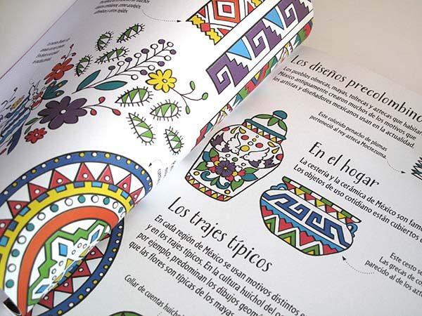 Motivos mexicanos para colorear | Pie de Página